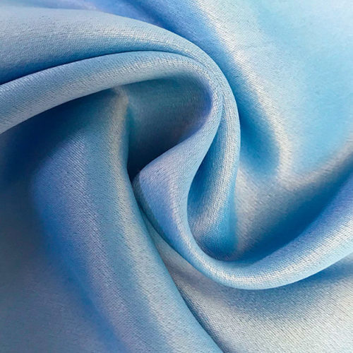 Light blue satin crepe