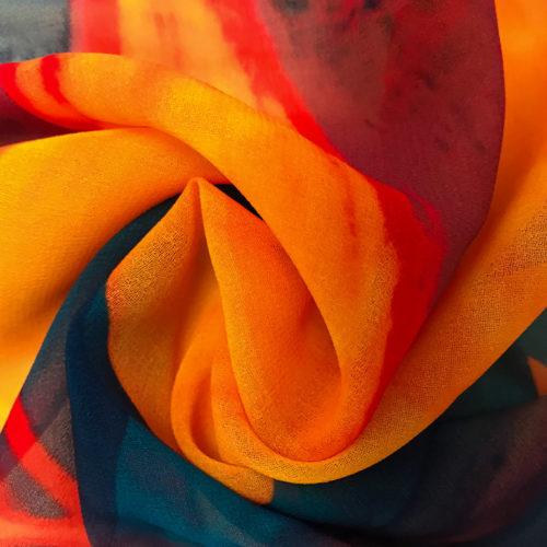 Floral Navy Chiffon