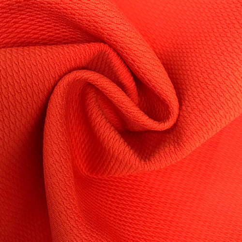 orange waffle texture fabric