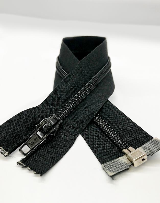 Black zip 31cm