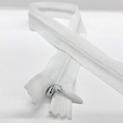 White zip 45cm