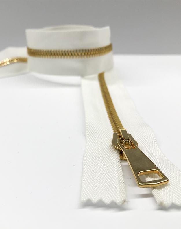 White zip 58cm