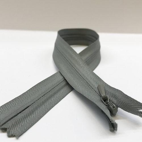Grey Concealed zip 32cm