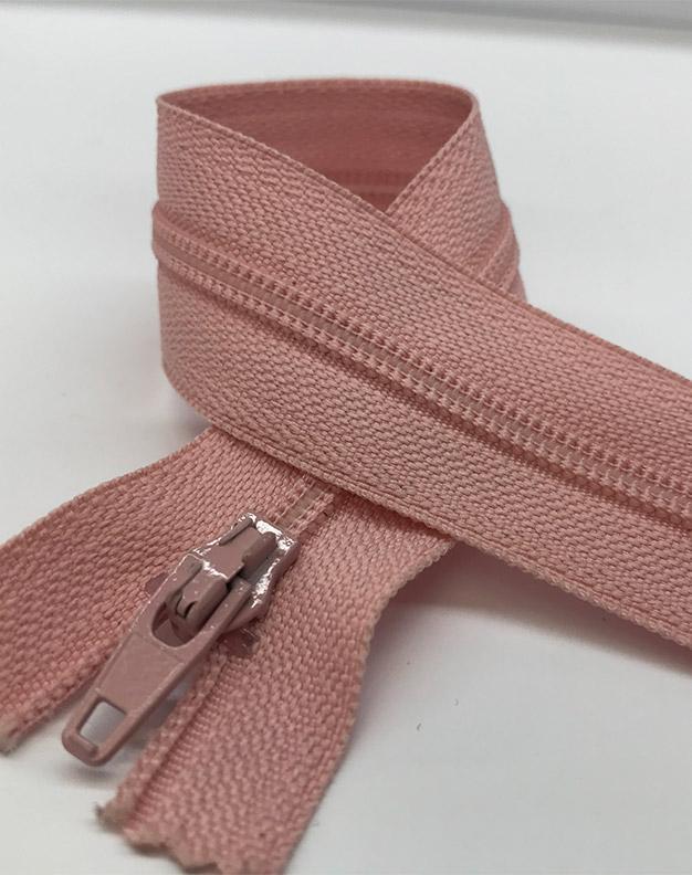Pink zip 18cm