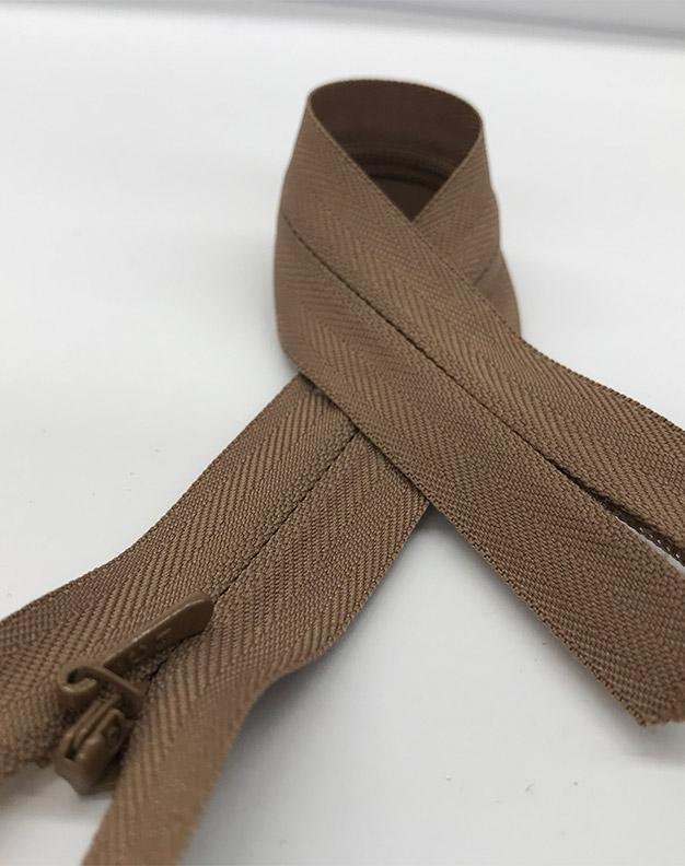 Brown zip 25cm