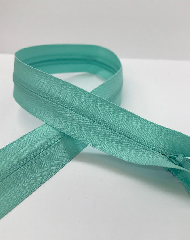 Mint green zip 38cm