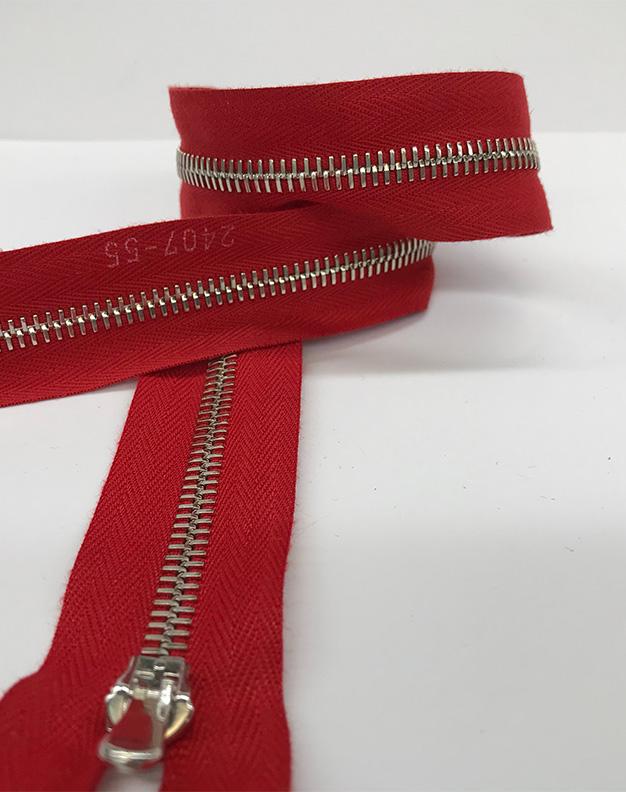 Red zip 60cm