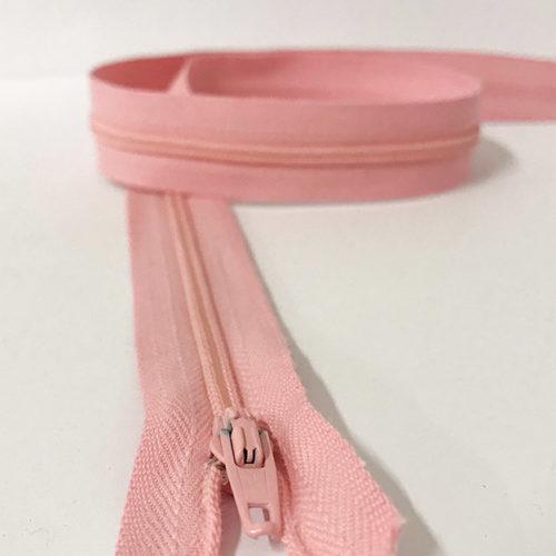 Pale pink zip 60cm