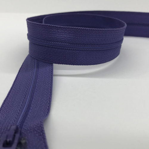 Purple zip 60cm