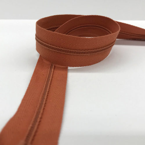 Brown zip 60cm