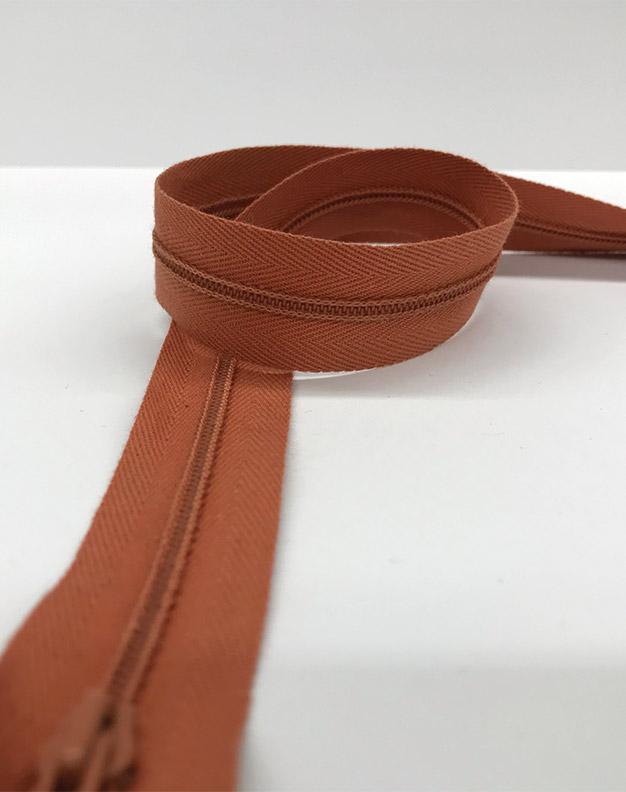 Brown zip 60cm