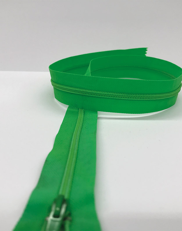 Neon green zip