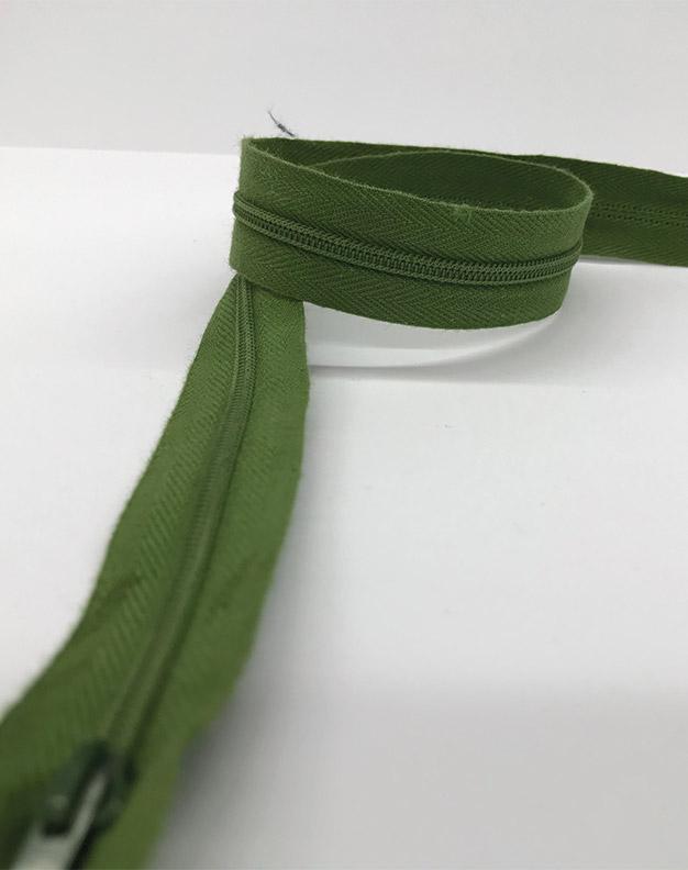 Dark green zip 60cm