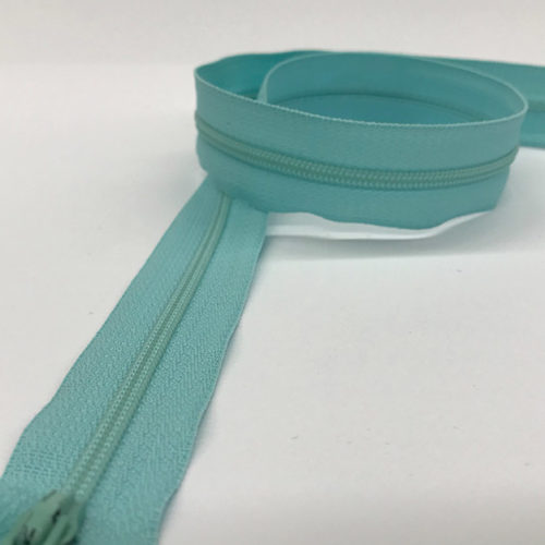 Light blue zip 60cm