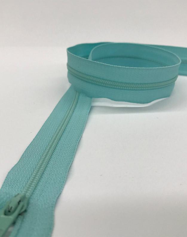 Light blue zip 60cm