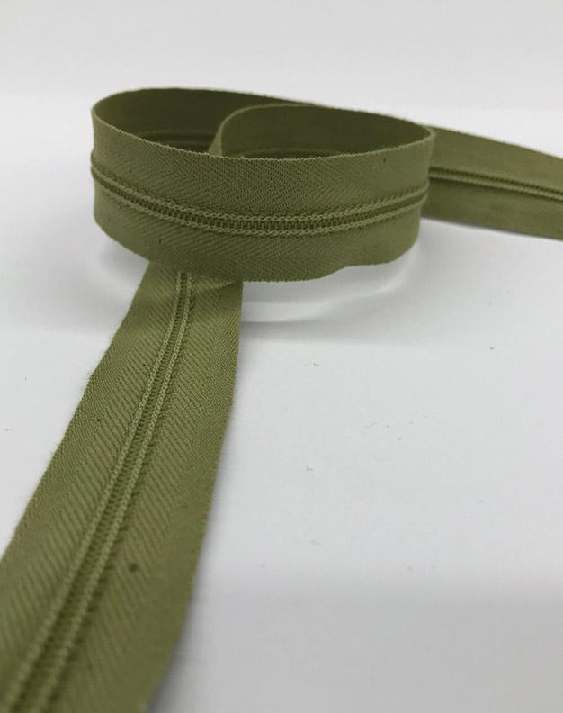 Khaki zip 57cm
