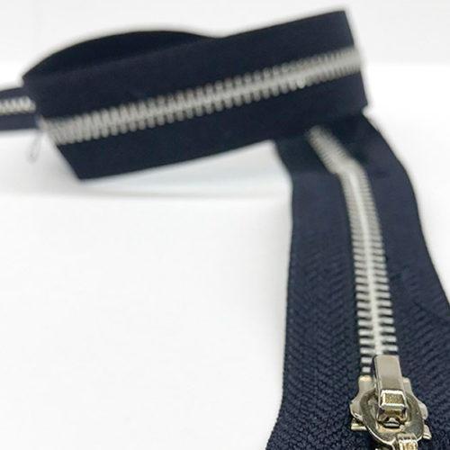 Navy zip 62cm