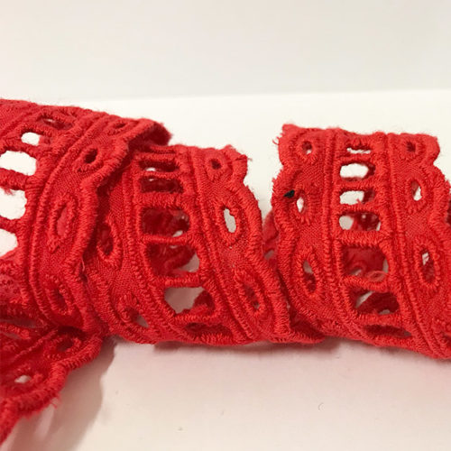 Red Lace Trimming