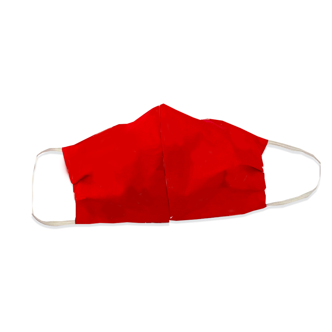 Crimson Red Fabric Mask - FC