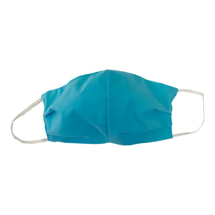 Aqua Blue Fabric Mask