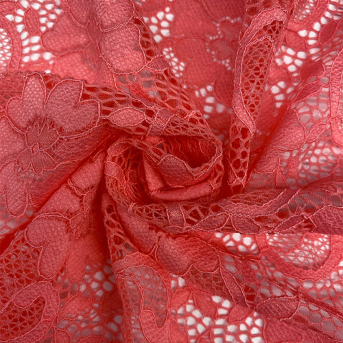 Coral Lace Fabric