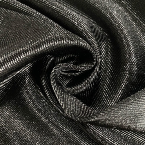 Black satin twill