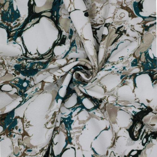 Marble Print Spun Polyester Jersey