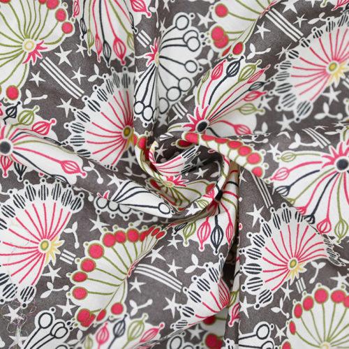 Luxury lotus print cotton