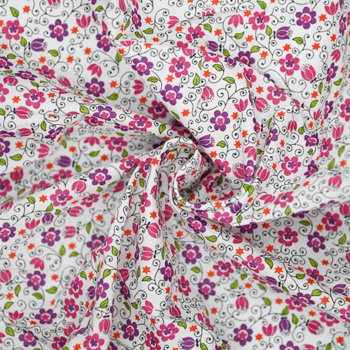 Purple floral cotton