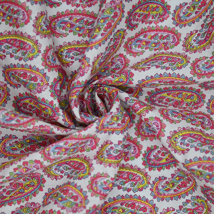 Red pattern cotton