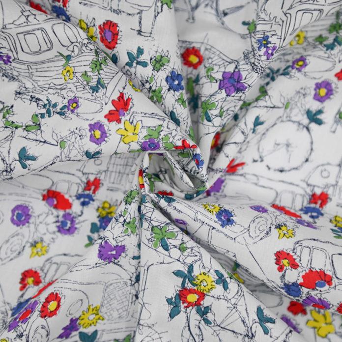 Garden floral print cotton