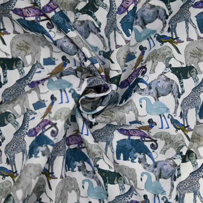 Animal print cotton