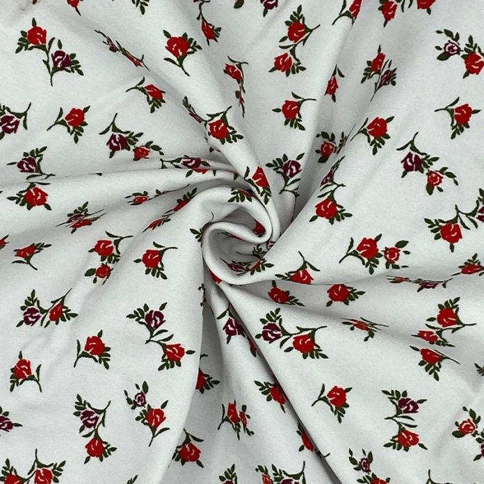 Floral stretch cotton