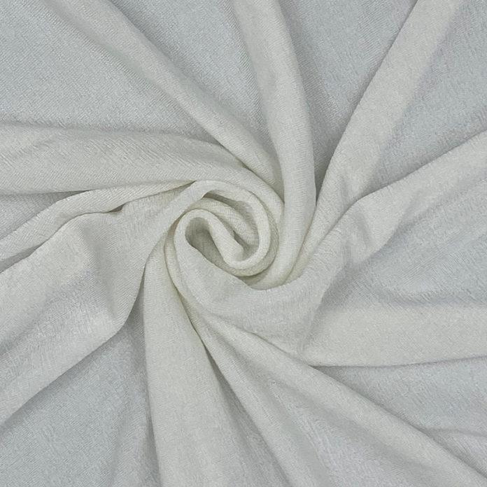 White textured jersey