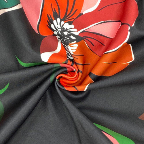 Red floral scuba