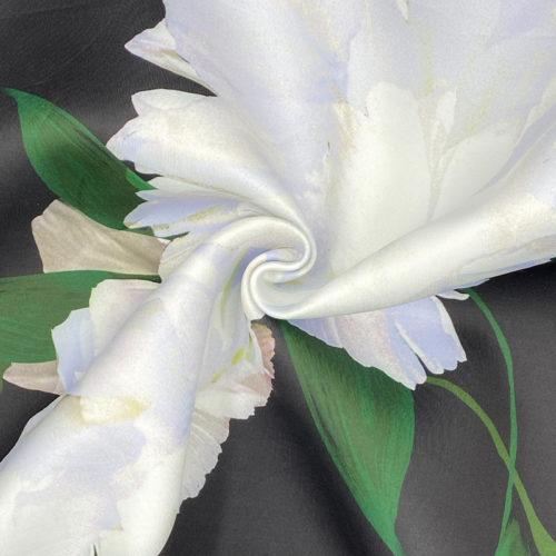 Black floral scuba