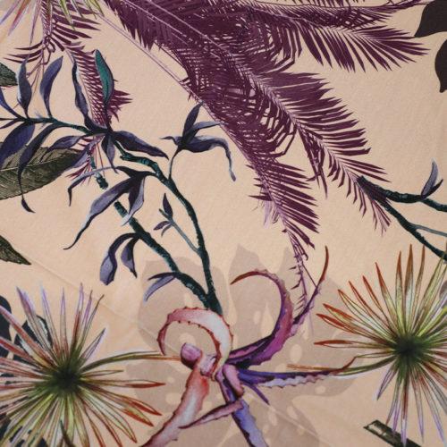 Blush Palm Leaf Pattern Jersey